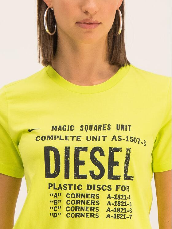 Diesel Diesel Tricou T-Sily-ZF 00SYVT Galben Regular Fit