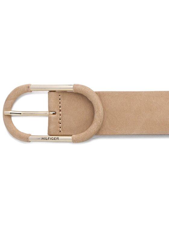 Tommy Hilfiger Tommy Hilfiger Moteriškas Diržas New Bridge Buckle Nubuck Belt 4 AW0AW05021 75 Smėlio