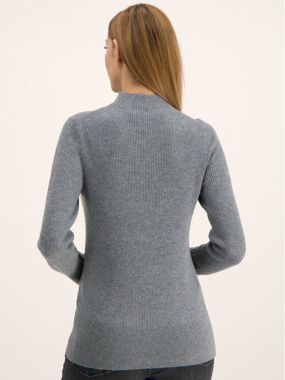 Calvin Klein Calvin Klein Поло Rib Funel K20K201328 Сив Regular Fit