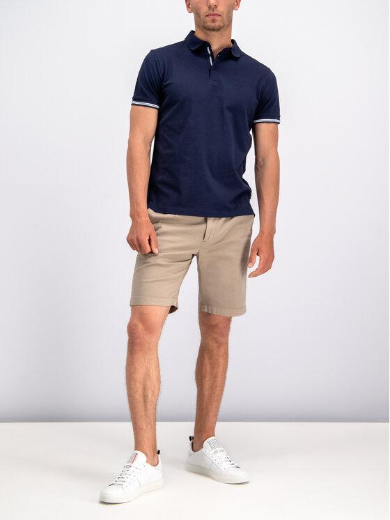 Joop! Jeans Joop! Jeans Тениска с яка и копчета 30014378 Тъмносин Regular Fit