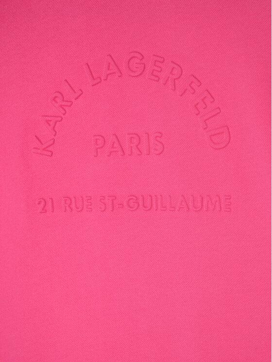 KARL LAGERFELD KARL LAGERFELD Sukienka codzienna Z12167 Różowy Regular Fit