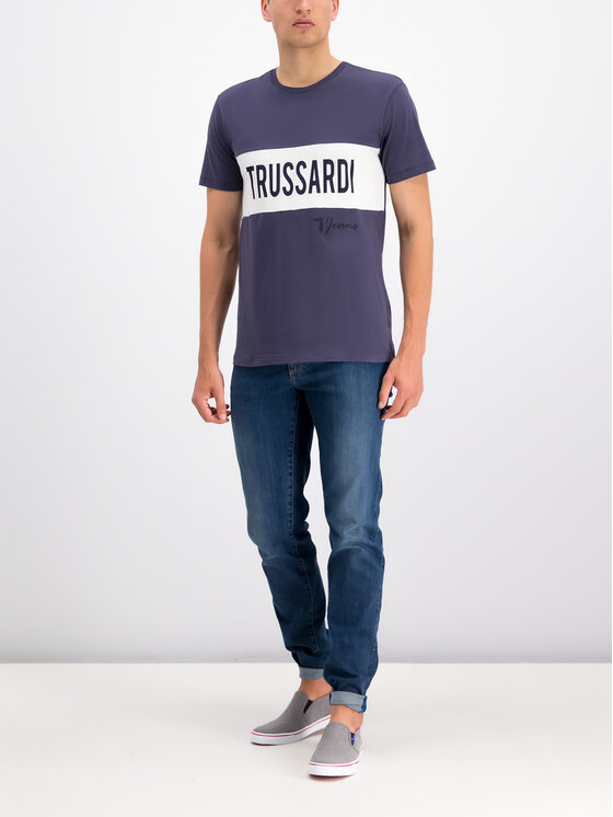 Trussardi Trussardi T-Shirt 52T00253 Fioletowy Regular Fit