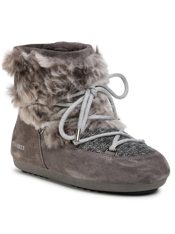Moon Boot Sniego batai Dk Side Low Wool Fur 24300700 Pilka