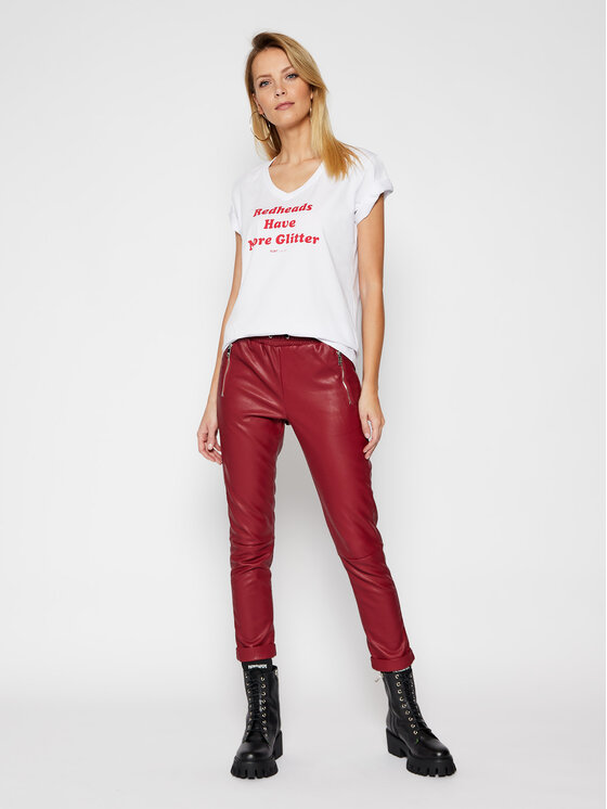 PLNY LALA PLNY LALA T-Shirt Redheads PL-KO-VN-00128 Biały Regular Fit