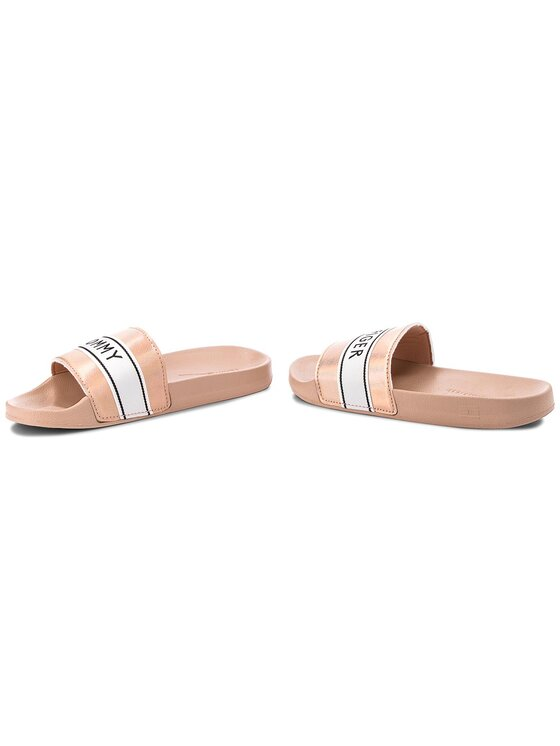TOMMY HILFIGER TOMMY HILFIGER Чехли Mirror Sparkle Beach Slide FW0FW03038 Розов