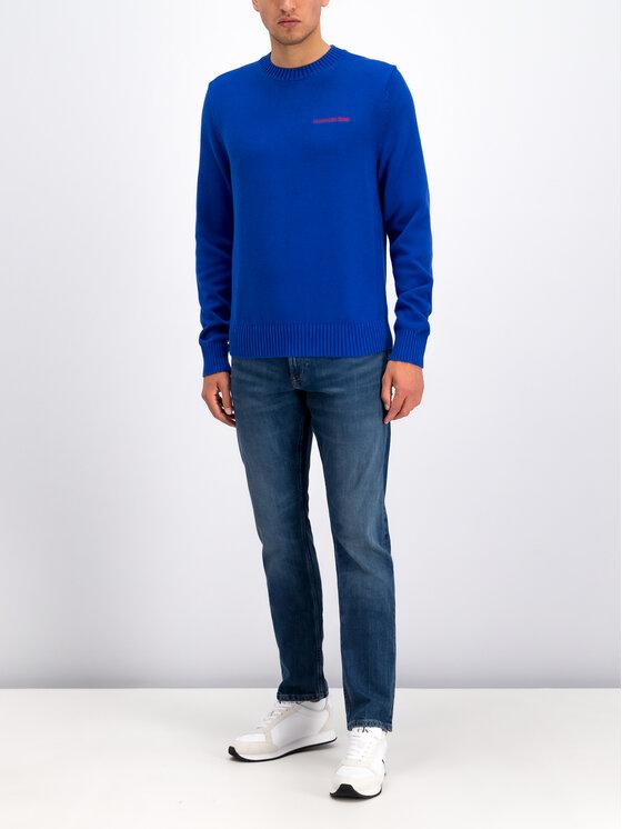 Calvin Klein Jeans Calvin Klein Jeans Sweter Instit J30J313480 Niebieski Regular Fit