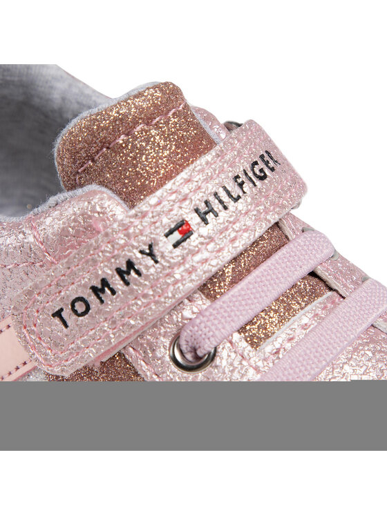 Tommy Hilfiger Tommy Hilfiger Sneakersy Low Cut Lace-Up T1A4-31014-1160 M Różowy