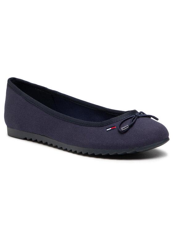 Tommy Jeans Balerinos Essential Tommy Jeans Ballerina EN0EN01284 Tamsiai mėlyna