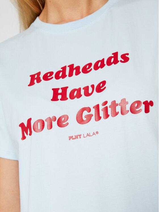 PLNY LALA PLNY LALA T-Shirt Redheads PL-KO-CL-00202 Niebieski Classic Fit
