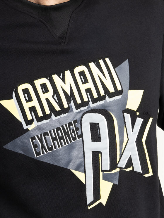 Armani Exchange Armani Exchange Džemperis 3HZMAJ ZJ4FZ 1200 Juoda Regular Fit