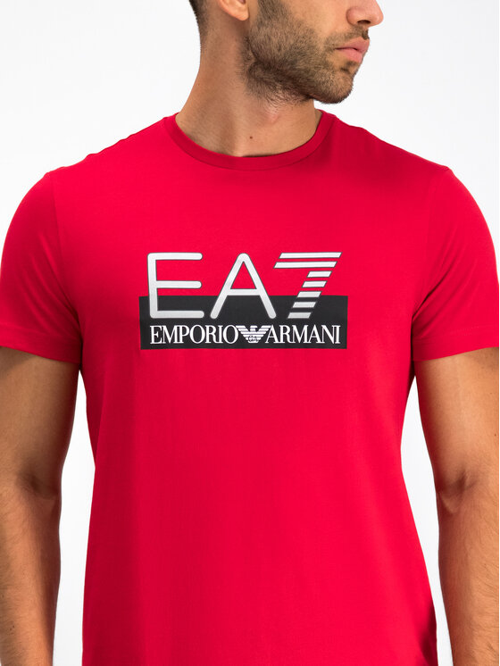 EA7 Emporio Armani EA7 Emporio Armani T-Shirt 6GPT81 PJM9Z 1450 Czerwony Regular Fit