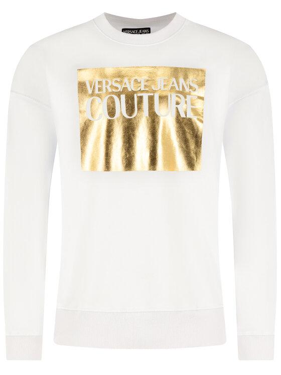 Versace Jeans Couture Versace Jeans Couture Pulóver B7GVA7TK Fehér Regular Fit