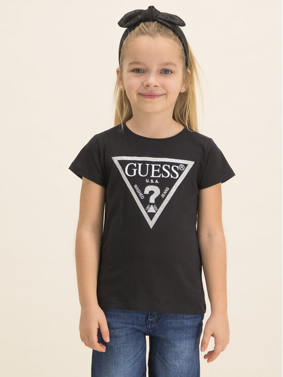 Guess Guess T-Shirt K73I56 K5M20 Černá Regular Fit