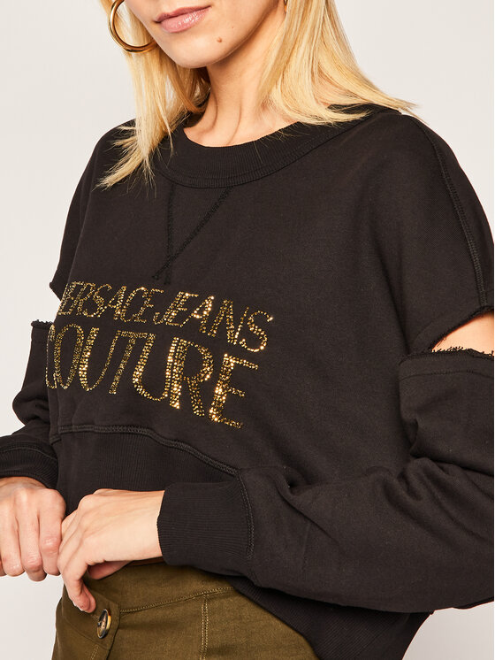 Versace Jeans Couture Versace Jeans Couture Sweatshirt B6HVA74T Schwarz Regular Fit