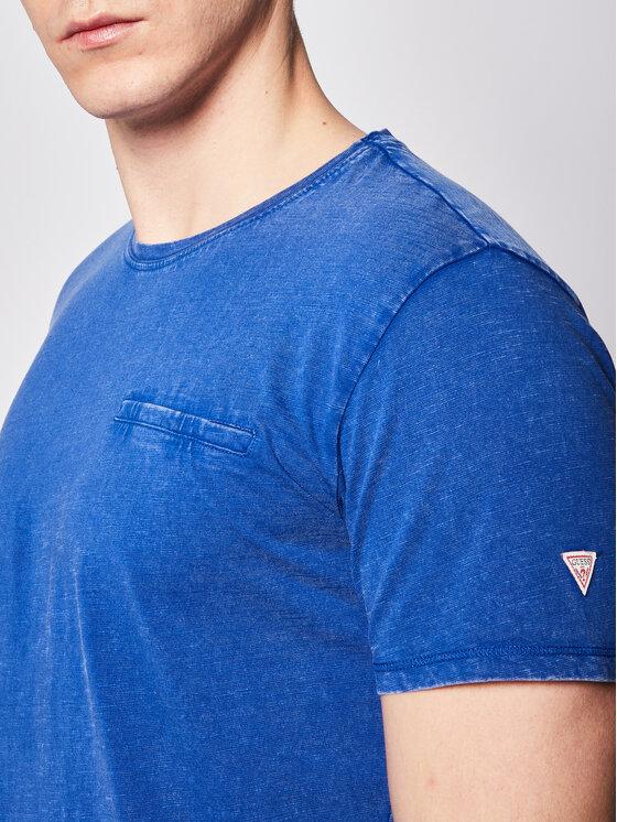Guess Guess T-Shirt Pocket Tee M0GI54 K6XN0 Niebieski Slim Fit