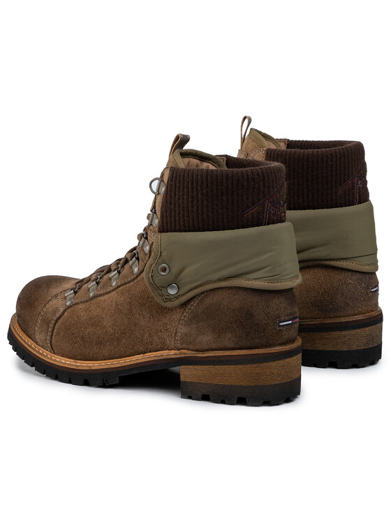 Tommy Jeans Tommy Jeans Trapery Suede Turn Collar Boot EM0EM00351 Zielony