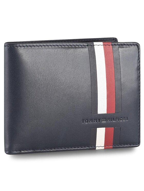 Tommy Hilfiger Tommy Hilfiger Duży Portfel Męski Icons Stripe Extra Cc And Coin pocket AM0AM02645 Granatowy