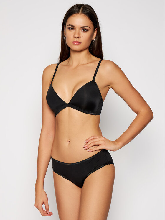 Calvin Klein Underwear Calvin Klein Underwear Biustonosz bezfiszbinowy Youthful 000QF4693E Czarny