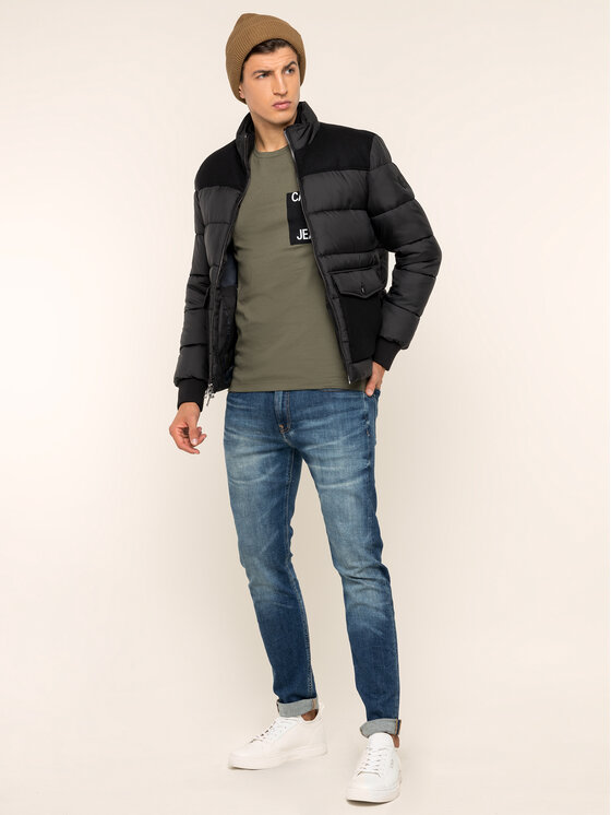Calvin Klein Jeans Calvin Klein Jeans Marškinėliai Pocket J30J313427 Žalia Slim Fit