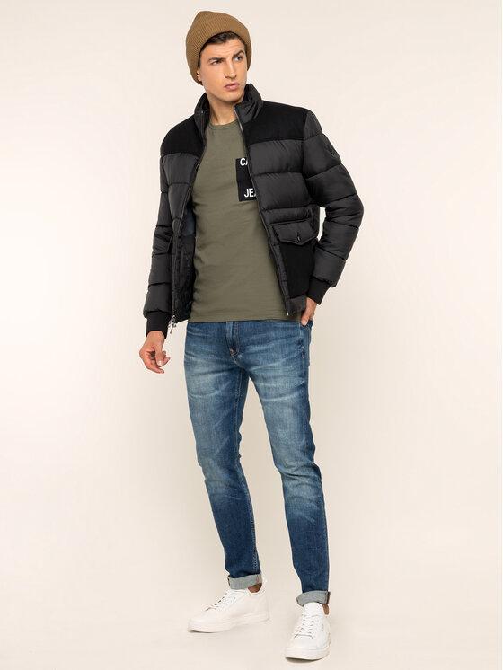 Calvin Klein Jeans Calvin Klein Jeans Póló Pocket J30J313427 Zöld Slim Fit
