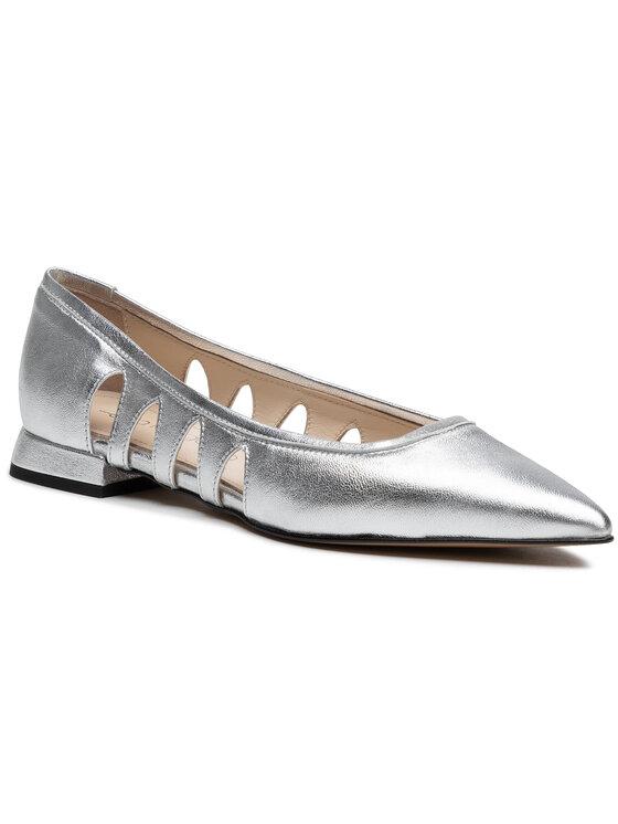 Balerini dama Eva Longoria Pantofi EL-04-03-000304 argintii