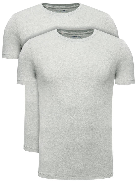 Polo Ralph Lauren 2 marškinėlių komplektas 714621944 Pilka Slim Fit