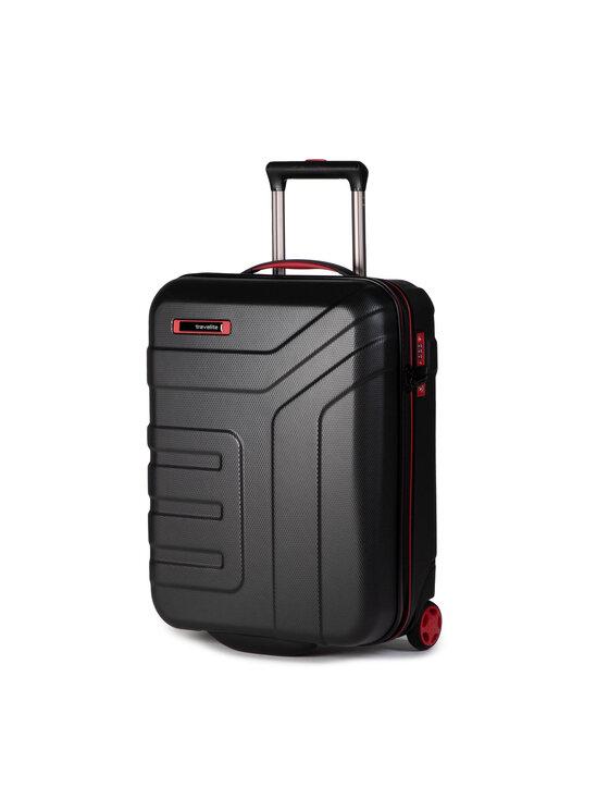 Travelite Mažas Kietas Lagaminas Vector 72007-01 Juoda