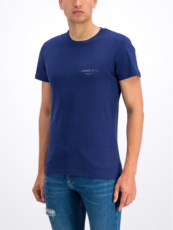 Versace Jeans Versace Jeans T-Shirt B3GTB76R Granatowy Slim Fit