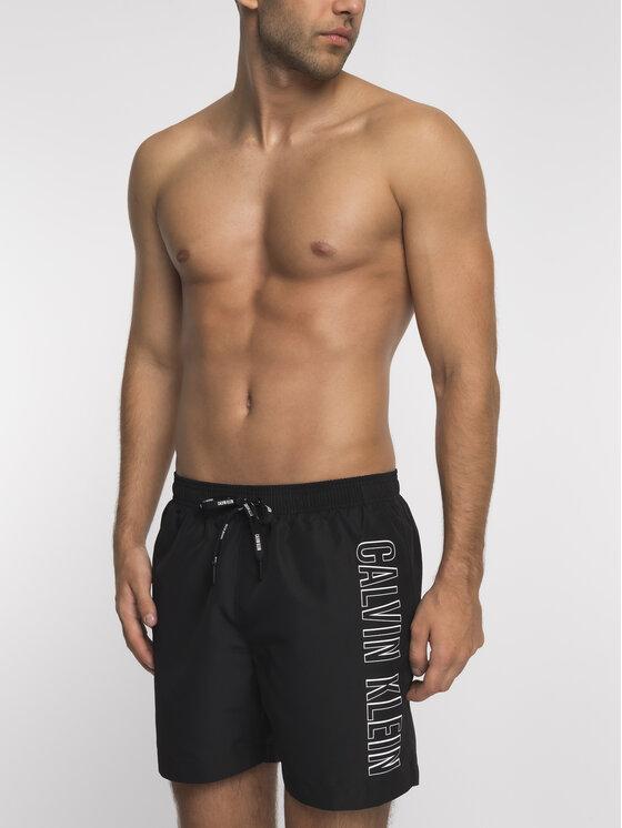 Calvin Klein Calvin Klein Plavecké šortky KM0KM00381 Černá Regular Fit