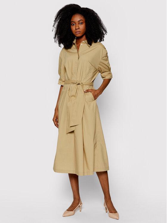 Marc O'Polo Sukienka koszulowa 103 1773 21163 Beżowy Regular Fit