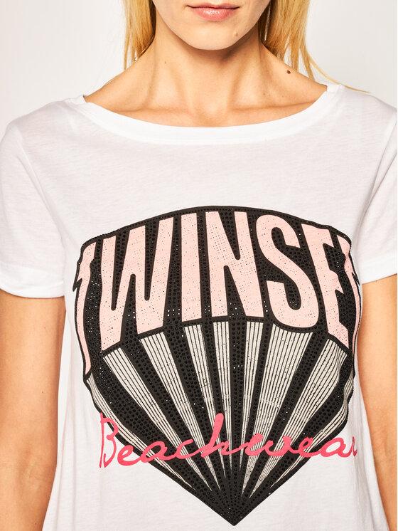 TwinSet TwinSet Marškinėliai 201LM2EGG Balta Regular Fit