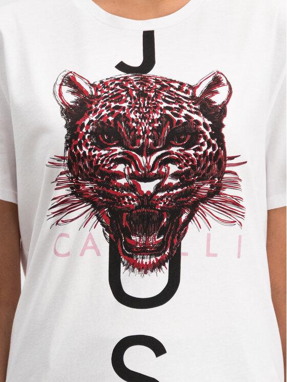 Just Cavalli Just Cavalli T-shirt S03GC0528 Bianco Regular Fit