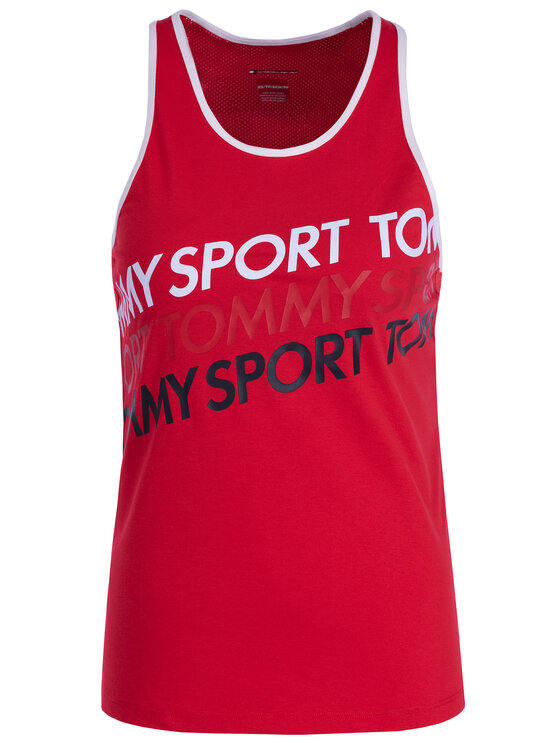 Tommy Sport Tommy Sport Top S10S100184 Czerwony Regular Fit