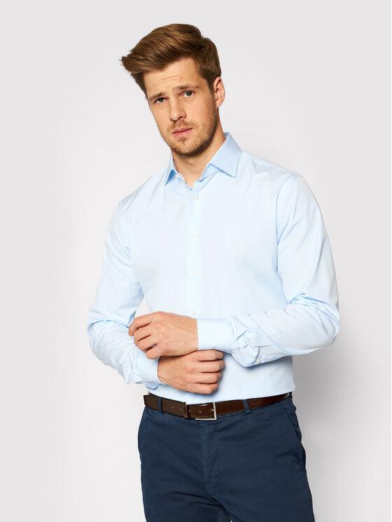 Emanuel Berg Marškiniai MCR37 Mėlyna Modern Fit