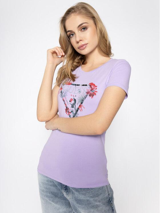 Guess Guess T-shirt Rose W0GI33 J1300 Viola Regular Fit