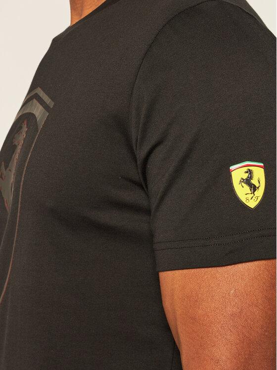 Puma Puma T-Shirt Ferrari Race Big Shield Tee 598545 Czarny Regular Fit