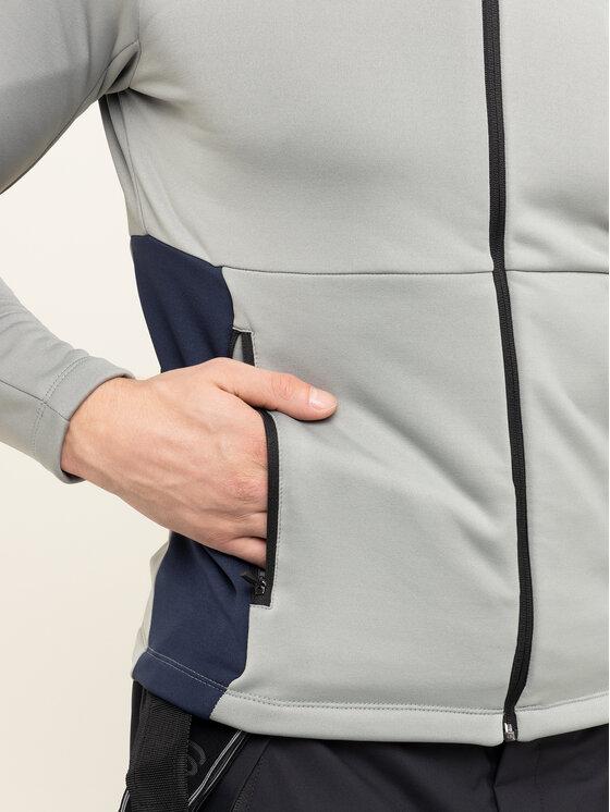 Colmar Colmar Techninis džemperis Zip-Up Thermal Ski 8377 9UE Pilka Slim Fit