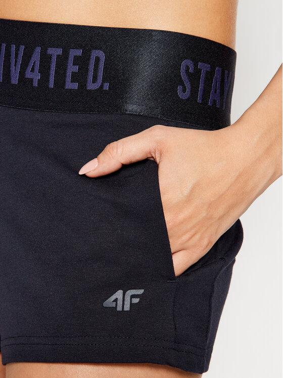 4F 4F Szorty sportowe H4L21-SKDD013 Granatowy Slim Fit
