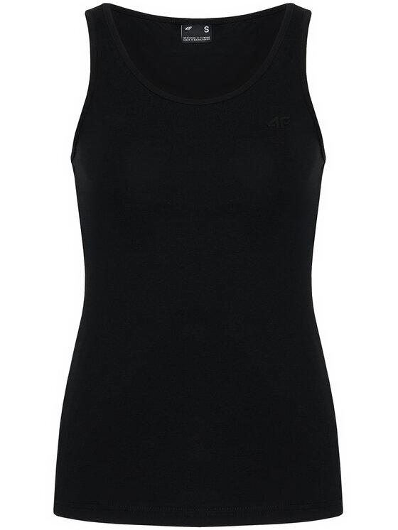 4F 4F Bluzka NOSH4-TSD003 Czarny Slim Fit