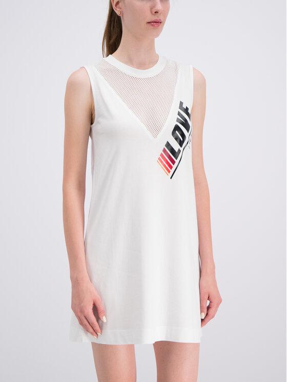 LOVE MOSCHINO LOVE MOSCHINO Kasdieninė suknelė W5A9701M3517 Balta Regular Fit
