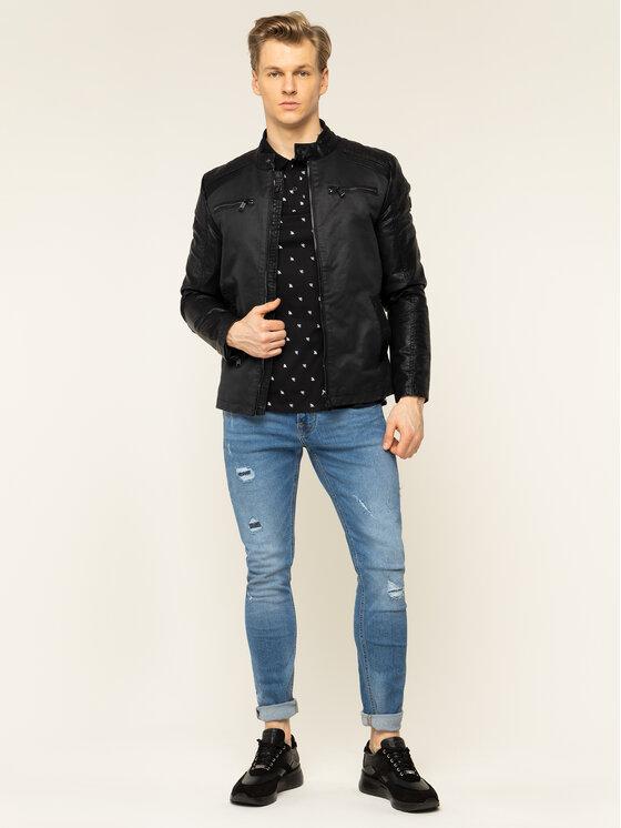 Guess Guess Polo marškinėliai M01P55 K85V0 Juoda Regular Fit