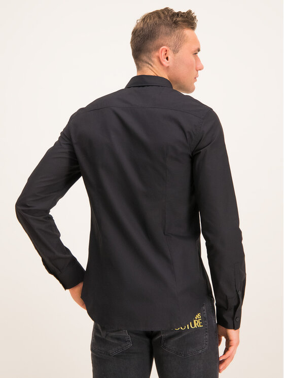 Versace Jeans Versace Jeans Πουκάμισο B1GTB6S1 Μαύρο Slim Fit