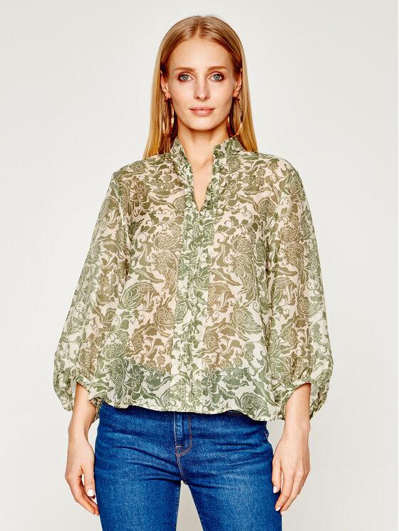 Marella Marella Блуза Spalto 31111702 Зелен Regular Fit