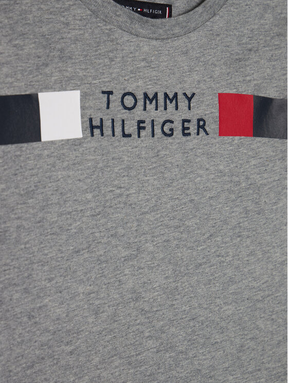 TOMMY HILFIGER TOMMY HILFIGER Bluzka Msw Global Stripe KB0KB06108 M Szary Regular Fit