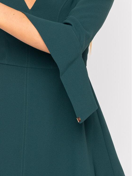 Elisabetta Franchi Elisabetta Franchi Koktejlové šaty AB-949-96E2-V239 Zelená Regular Fit