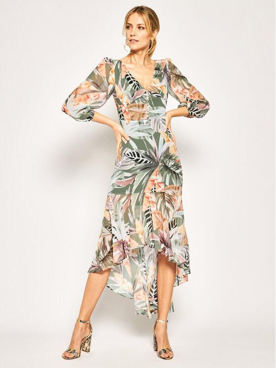 Marciano Guess Kasdieninė suknelė Desert Palm High Low 02G765 7120Z Spalvota Regular Fit