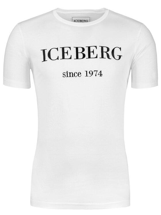 Iceberg Iceberg Marškinėliai 19EI1P0F0146331 Balta Slim Fit