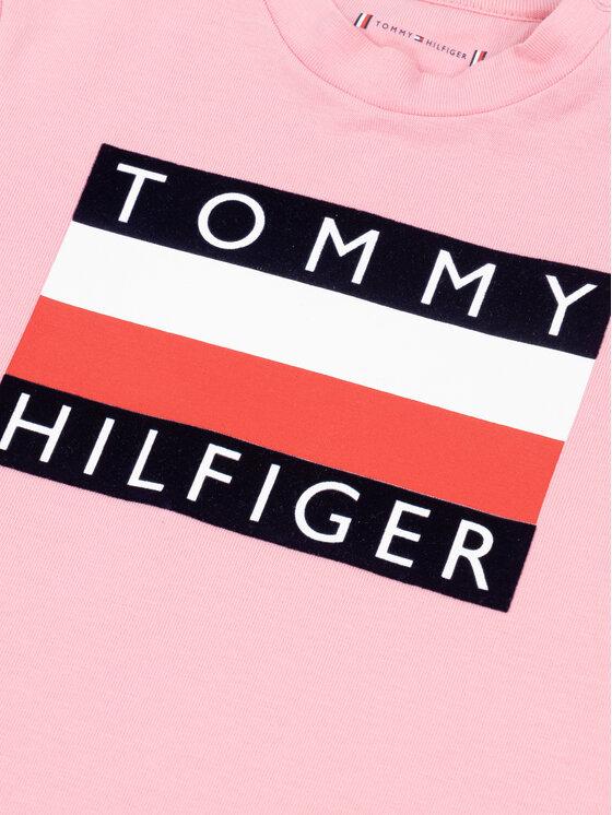 Tommy Hilfiger Tommy Hilfiger T-Shirt Flag KN0KN01122 Rosa Regular Fit