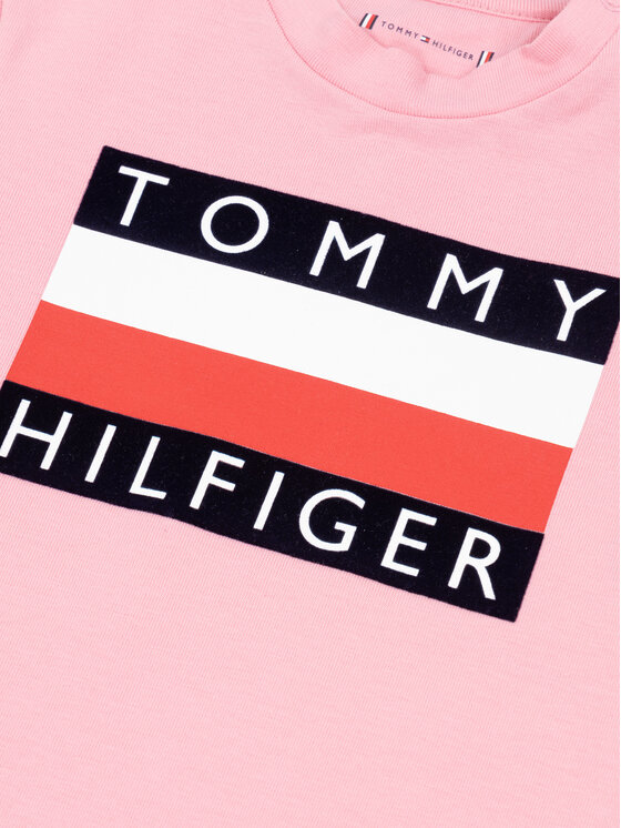 Tommy Hilfiger Tommy Hilfiger T-Shirt Flag KN0KN01122 Różowy Regular Fit