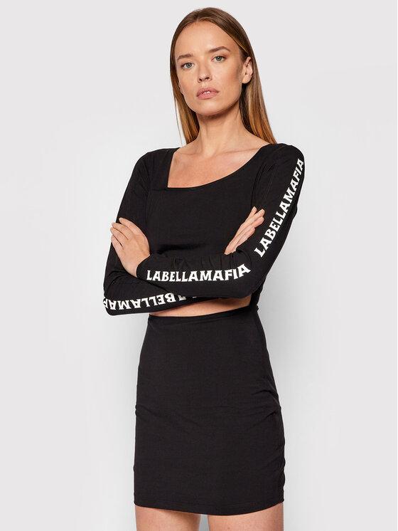 LaBellaMafia Kasdieninė suknelė 21703 Juoda Slim Fit